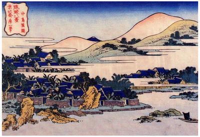 Katsushika Hokusai The Banana Plantation at Chuto Art Poster Print