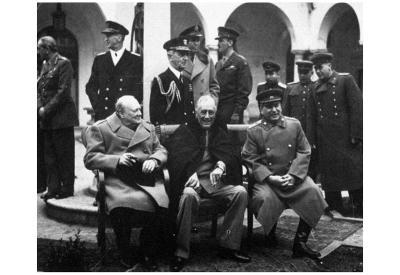 Leaders of World War 2 (Winston Churchill, Franklin Delano Roosevelt, Joseph Stalin) Poster
