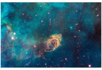 Jet in Carina WFC3 UVIS Full Field Space Photo Art Poster Print