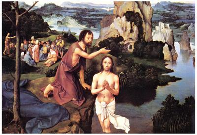 Joachim Patinir Baptism of Christ Art Print Poster