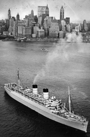 New York City Harbor Ship Archival Photo Poster Print