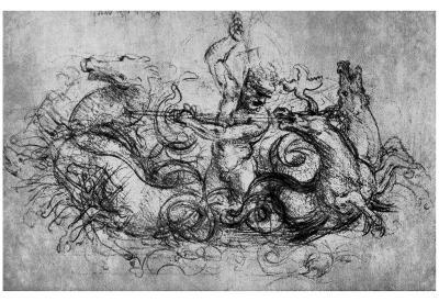 Leonardo da Vinci (Neptune) Art Poster Print
