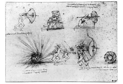 Leonardo da Vinci (Study Sheet) Art Poster Print