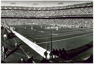 Mile High Stadium Denver Football Archival Photo Sports Poster