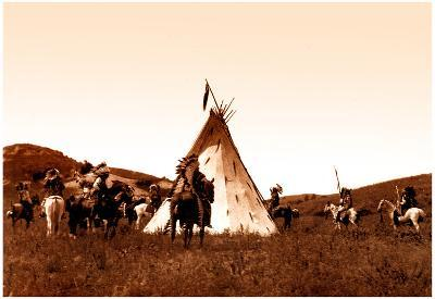 Indian Sioux Camp Native American Photo Print Poster
