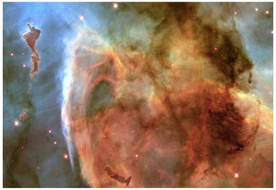 Light and Shadow in the Carina Nebula Space Photo Art Poster Print