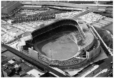 New York Yankees Original Yankee Stadium Aerial Archival Photo Sports Poster
