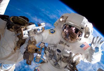NASA Astronaut Spacewalk Space Earth Photo Poster Print
