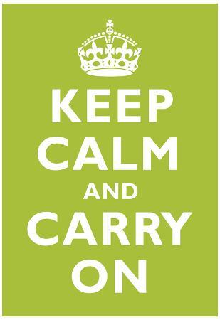 Keep Calm and Carry On Kiwi Art Print Poster