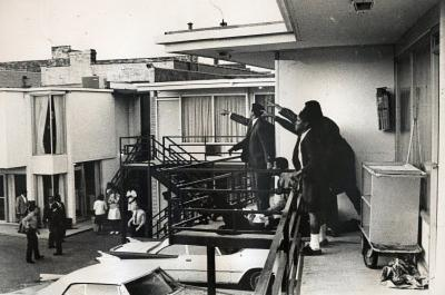 Martin Luther King Jr Assassination Archival Photo Poster Print