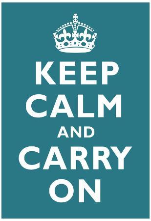 Keep Calm and Carry On Peacock Art Print Poster
