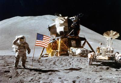 Moon Landing Salute Archival Photo Poster Print