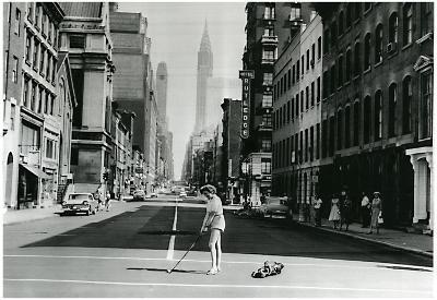 New York City Golf on Lexington Avenue 1957 Archival Photo Poster Print