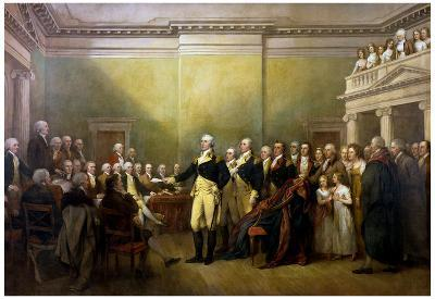 John Trumbull General George Washington Resigning His Commission Art Print Poster