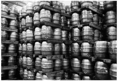 Kegs of Beer Archival Photo Poster