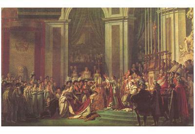 Jacques-Louis David (Napoleon crowned Empress Joséphine) Art Poster Print