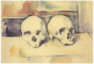 Paul Cezanne Still Life with Two Skulls Art Print Poster