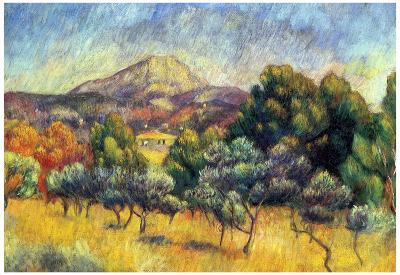 Pierre Auguste Renoir Sainte Victoire Mountain Art Print Poster