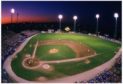 Omaha Nebraska Minor League Baseball Color Archival Photo Sports Poster