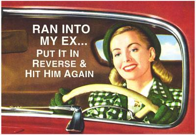 Ran Into My Ex Put it in Reverse and Hit Him Again Funny Poster Print