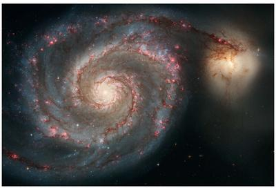 Out of This Whirl: the Whirlpool Galaxy M51 and Companion Galaxy Space Photo Art Poster Print