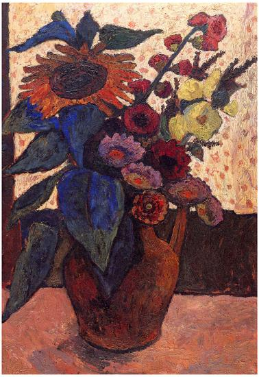 Paula Modersohn Becker Still Life With Sunflowers