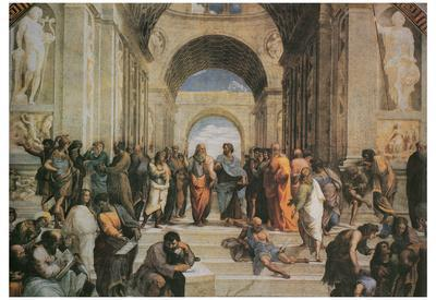 Raphael (The School of Athens) Art Poster Print