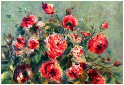 Pierre-Auguste Renoir Still Life Roses of Vargemont Art Print Poster
