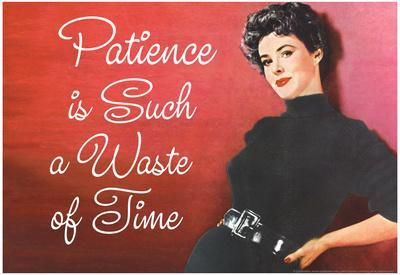 Patience is Such a Waste of Time Funny Poster Print