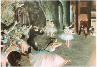 Rehearsal on Stage Edgar Degas Art Print Poster
