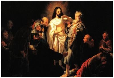 Rembrandt Christ Shows His Wound Art Print Poster