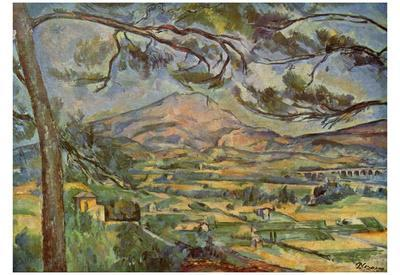 Paul Cezanne (Mont Sainte-Victoire) Art Poster Print