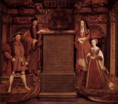 Remigius Van Leemput (Henry VII, Elizabeth of York, Henry VIII and Jane Seymour) Art Poster Print