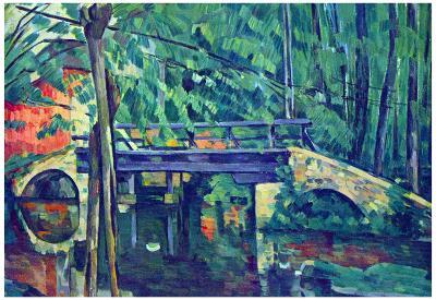 Paul Cezanne Bridge in the Forest Art Print Poster