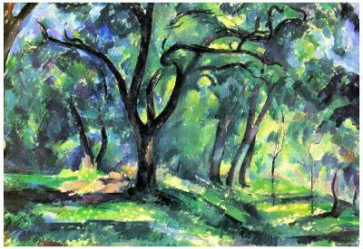 Paul Cezanne In the Woods Art Print Poster