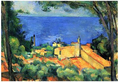 Paul Cezanne l'Estaque with Red Roofs Art Print Poster