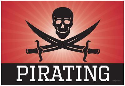 Pirating Red Pirate Poster Print