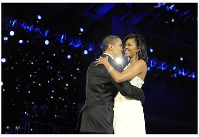 President Barack Obama (Dancing with Michelle Obama) Art Poster Print
