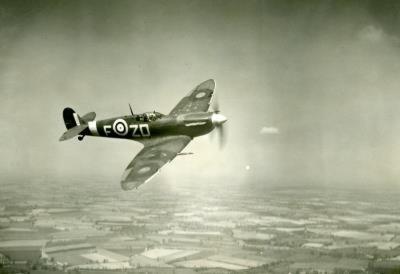 Supermarine Spitfire Mk V Chicago 1942 Archival Photo Poster Print