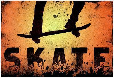 Skateboarding Orange SporTSPoster