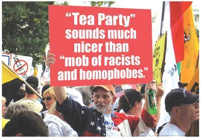 Tea Party Better Than Mob Of Racists Homophobes Funny Poster