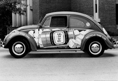 Stag Beer Volkswagen Beetle 1974 Archival Photo Poster
