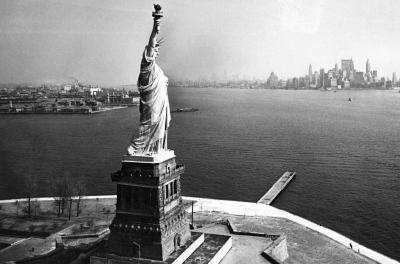 Statue of Liberty New York City Skyilne Archival Photo Poster Print