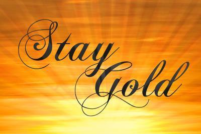 Stay Gold Ponyboy Print Poster