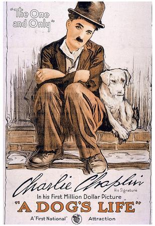 A Dog's Life Movie Charlie Chaplin Poster Print