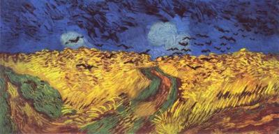 Vincent Van Gogh (Crows over wheat field) Art Poster Print