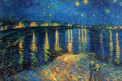 Vincent Van Gogh (Starry Night Over the Rhone) Art Poster Print Starlight