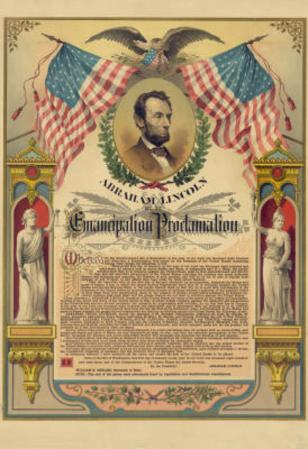 Abraham Lincoln Emancipation Proclamation Historical Document Poster