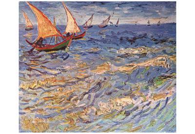 Vincent Van Gogh (The Sea at Saintes-Maries) Art Poster Print