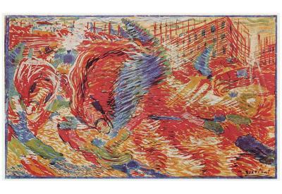 Umberto Boccioni (The city rises) Art Poster Print